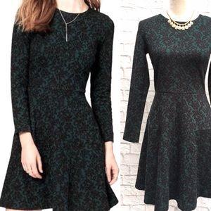 Loft Green Holiday Dress Size S